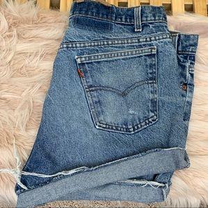 High Waist Cutoff Levi's Orange Tab Plus Shorts!